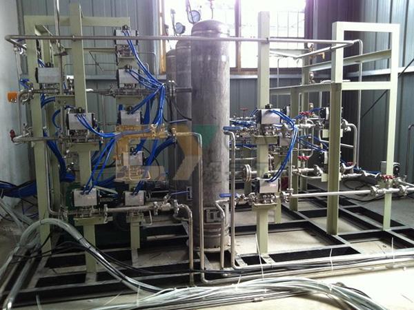 可燃气体全自动配气设备安装现场